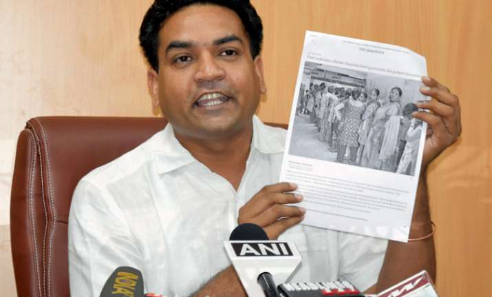 Kapil Mishra claimed today that he wa 'attacked' by AAP