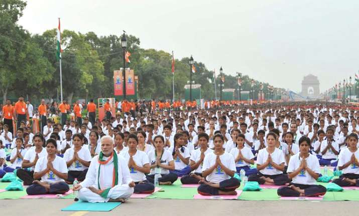 Modi at International Yoga Day