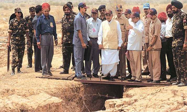 File photo of former PM Atal Bihari Vajpayee at the site of