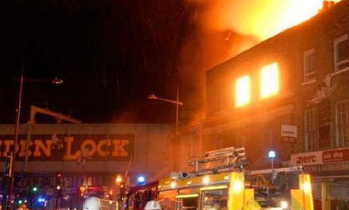 Massive fire breaks out in London's famous Camden Lock