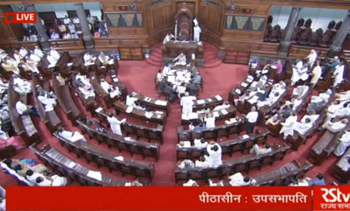 Amendment moved by Opposition was passed in Rajya Sabha