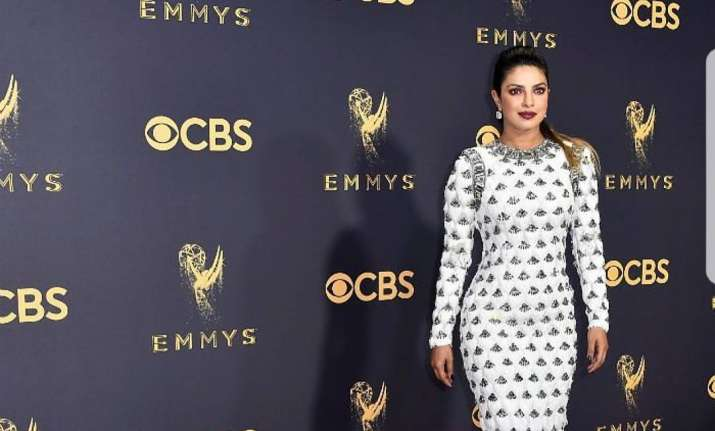 Priyanka Chopra dazzles in white as she presents award at Emmys 2017