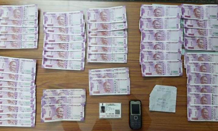 Fake notes seized by the BSF at the Indo-Bangla border kept