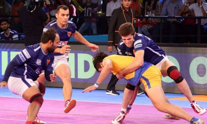 Telugu Titans crush Dabang Delhi in PKL