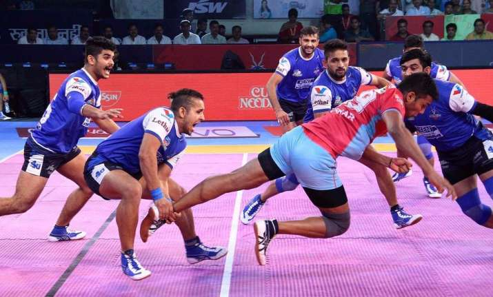 Image result for Pro Kabaddi League: Jaipur Pink Panthers - Haryana Steelers Match settles In Draw