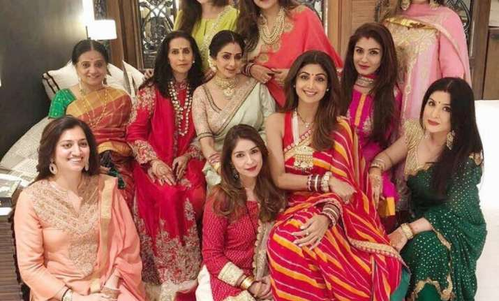 How Shilpa Shetty Kundra, Sridevi & Raveena Tandon celebrated Karwa Chauth