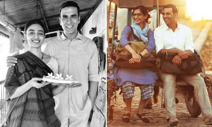 Padman: Akshay Kumar introduces Sonam Kapoor, Radhika Apte in new stills