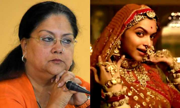 Image result for Raje wants 'necessary changes' made to 'Padmavati'