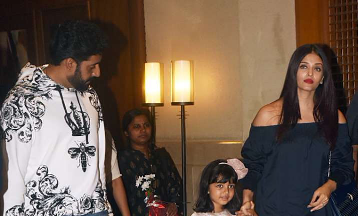 Big B, Aishwarya, Abhishek celebrate as little Aaradhya turns another year older