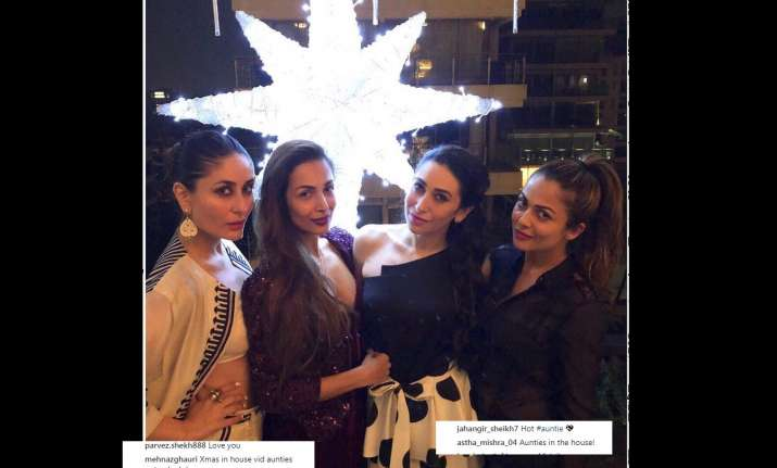 Kareena and Karisma steal the thunder at Malaika's pre-Christmas bash
