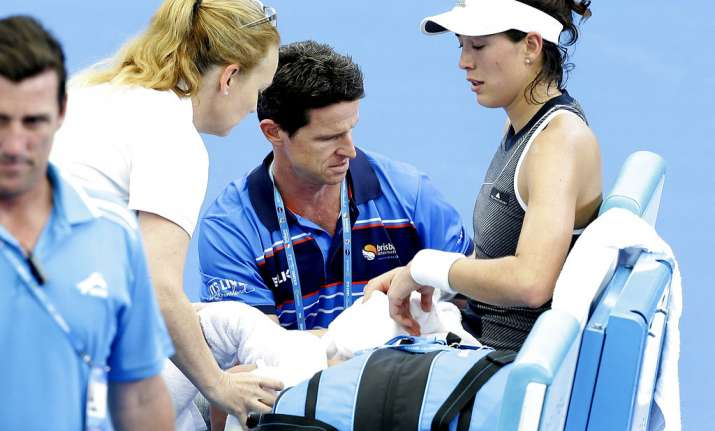 Shocking moment Wimbledon champion Garbine Muguruza's calf 'almost POPS OUT' during match