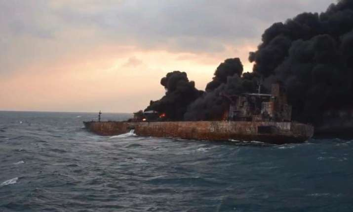 32 feared dead as burning Iranian oil tanker finally sinks off China