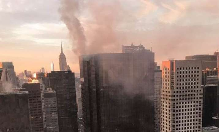 Electrical Fire Breaks Out on the Roof of Trump Tower in Manhattan