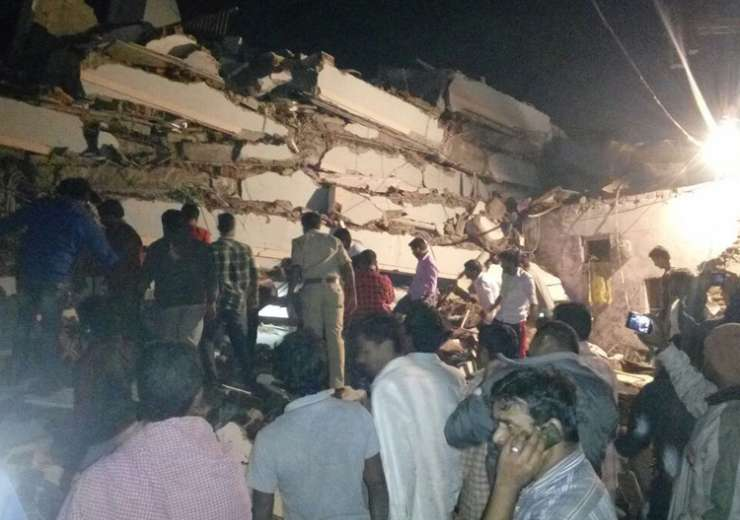 Under Construction Building Collapses In Hyderabad Two Dead