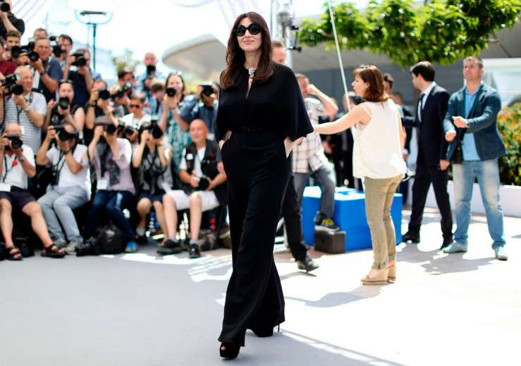 Italian actress and fashion model Monica Bellucci rocked black with grace.