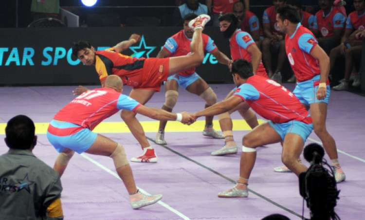 Image result for Pro Kabaddi League 2017: Jaipur Pink Panthers thrashes Gujarat Fortunegiants