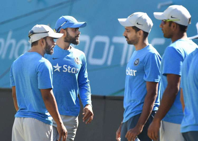 Team India at practice session ahead of first ODI against NZ- India Tv