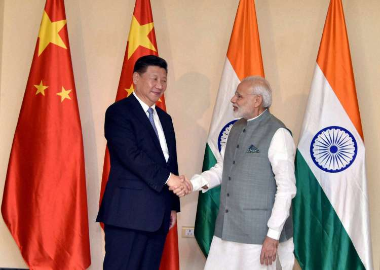 PM Narendra Modi meets Chinese President Xi Jinping in Goa- India Tv