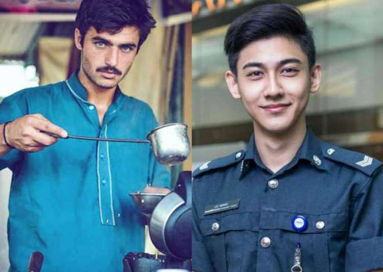 Blue-eyed Pakistani chaiwala and Singapore's airport
