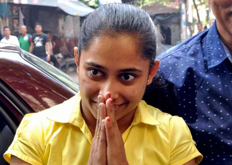 Gymnast Dipa Karmakar during a felicitation programme in- India Tv