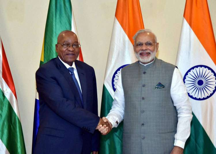 PM Modi with Jacob Zuma- India Tv