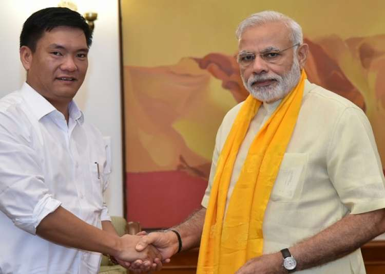 Narendra Modi and Pema Khandu- India Tv