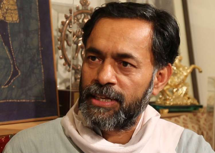 File pic of Swaraj India founder Yogendra Yadav