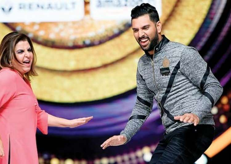 Farah Khan, Yuvraj Singh- India Tv- India Tv