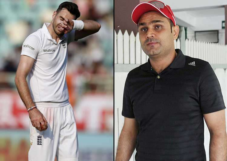 Virender Sehwag, James Anderson, King Pair- India Tv