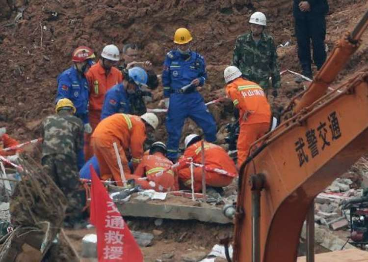 China construction site collapse- India Tv