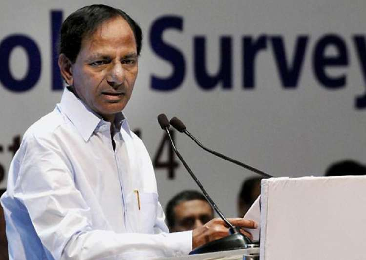 File pic - Telangana CM K Chandrasekhar Rao speaks at an- India Tv