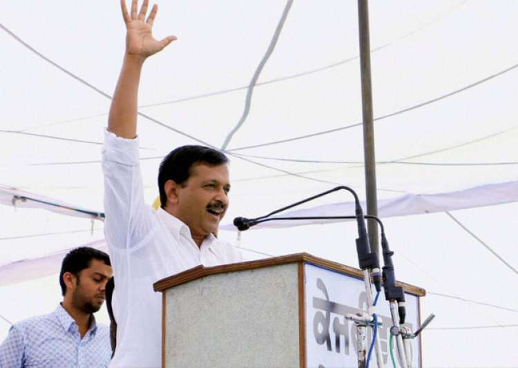 Arvind Kejriwal addressing a public rally at Dhuri in- India Tv