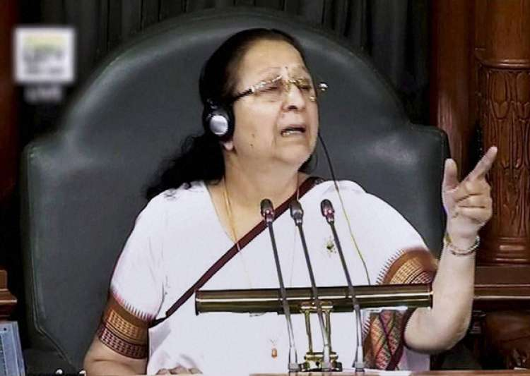 Speaker Sumitra Mahajan speaks in the LS during the Winter- India Tv