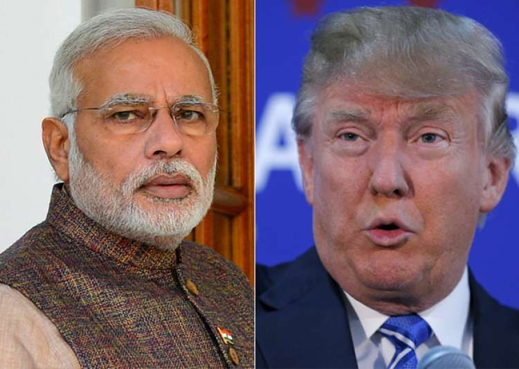 File pic of Narendra Modi and Donald Trump - India Tv