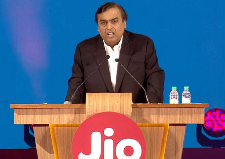 File pic - Mukesh Ambani speaks at the launch of Reliance