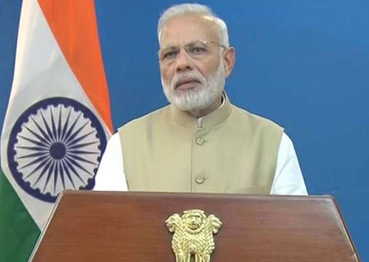 File pic - PM Narendra Modi addressing nation on Nov 8- India Tv