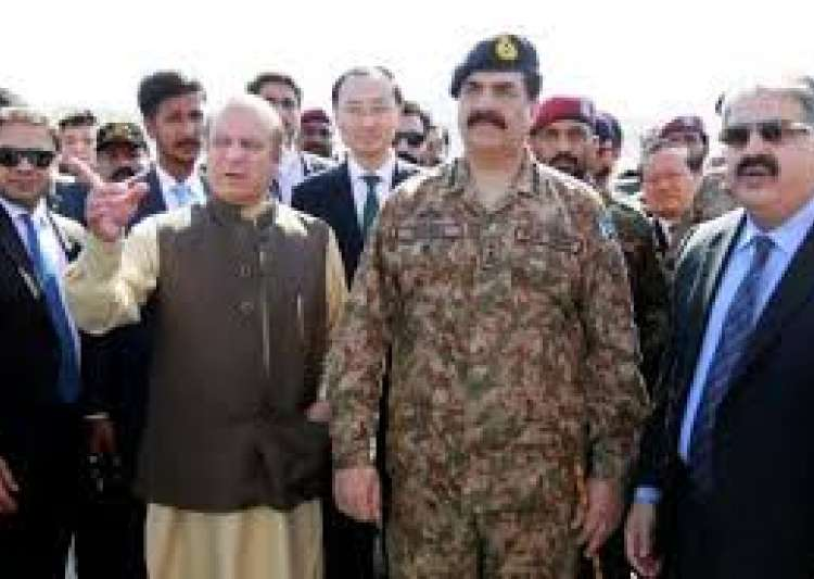 Nawaz Sharif with Raheel Sharif- India Tv