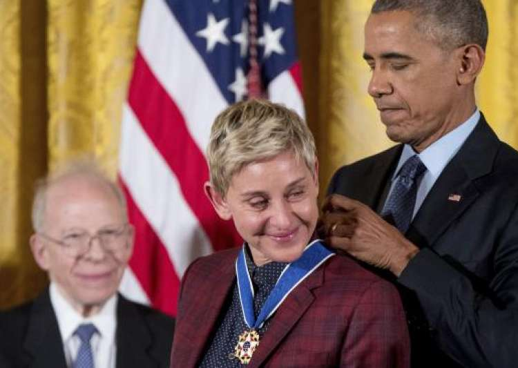 Obama lauds Ellen DeGeneres- India Tv