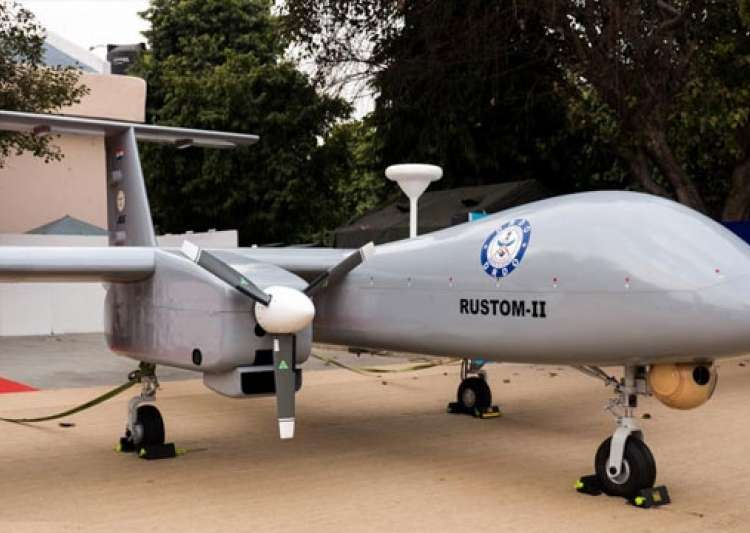 Unmanned aircraft like Rustom-II- India Tv