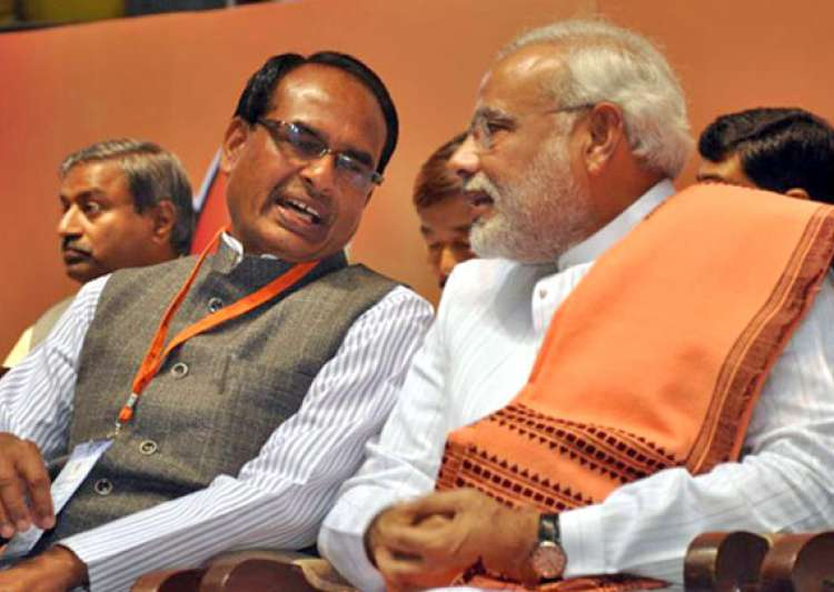 Shivraj Singh Chouhan with PM Modi- India Tv