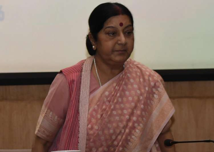 File pic - Sushma Swaraj at an event in New Delhi.- India Tv