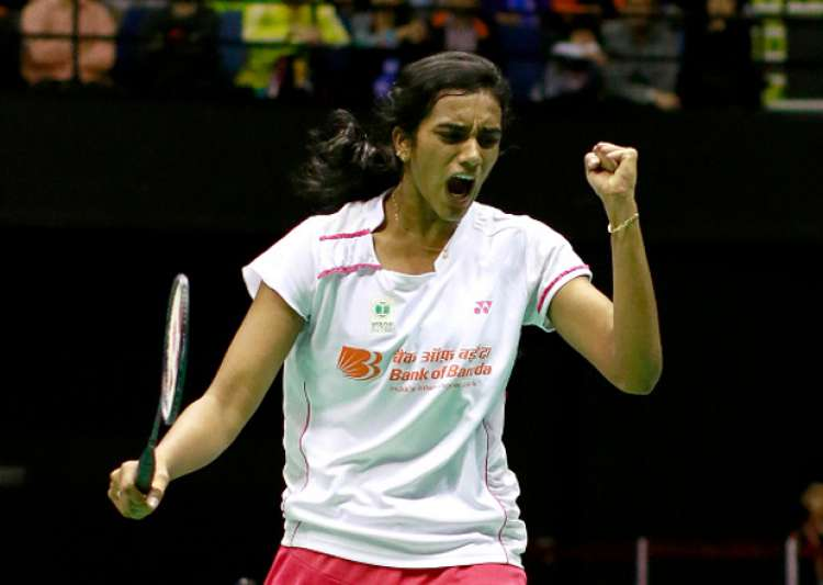 PV Sindhu reacts during a match against Tai Tzu Ying at- India Tv