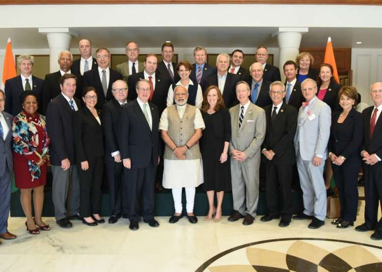 A US Congressional Delegation met PM Narendra Modi today.