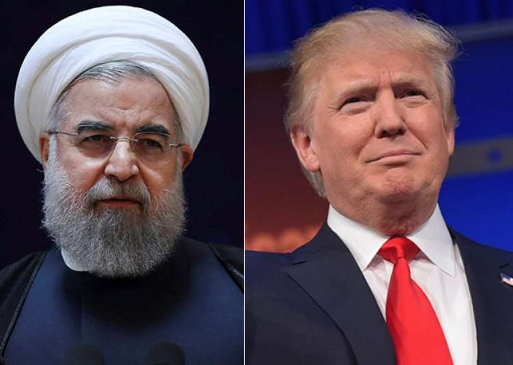 File pic - Hassan Rouhani and Donald Trump