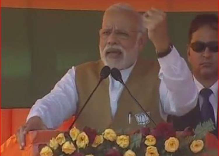 Narendra Modi in Fatehpur, UP
