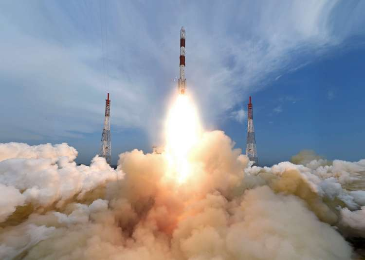 ISRO recently launched 104 satellites into space in one go