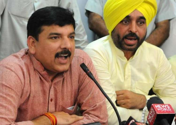 The video shows AAP's Sanjay Singh in a phone conversation