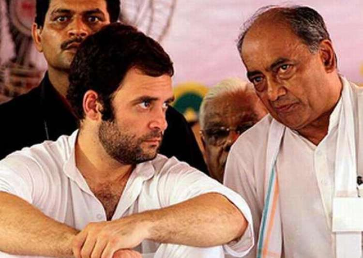Digvijaya Singh, Rahul Gandhi- India Tv