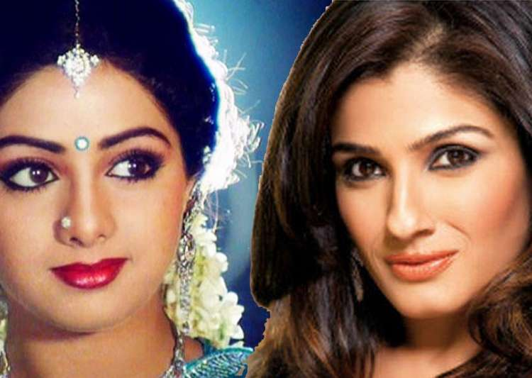 Sridevi and Raveena Tandon- India Tv
