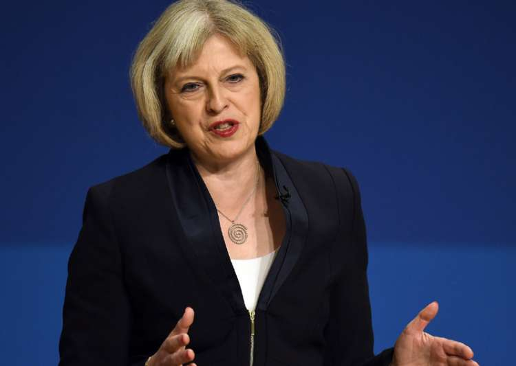 File pic of British Prime Minister Theresa May- India Tv